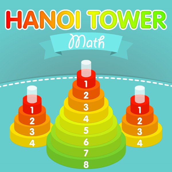 Play Math Tower of Hanoi