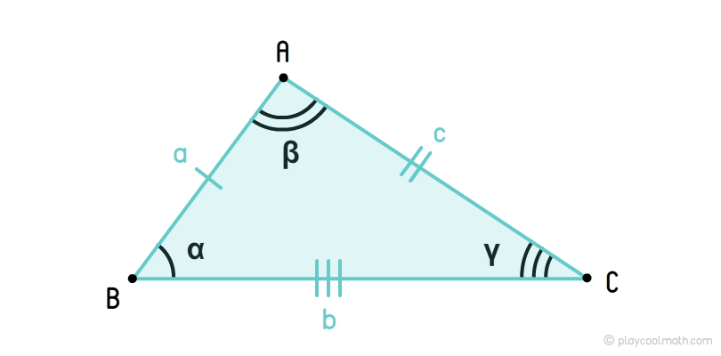 Non-equilateral triangle