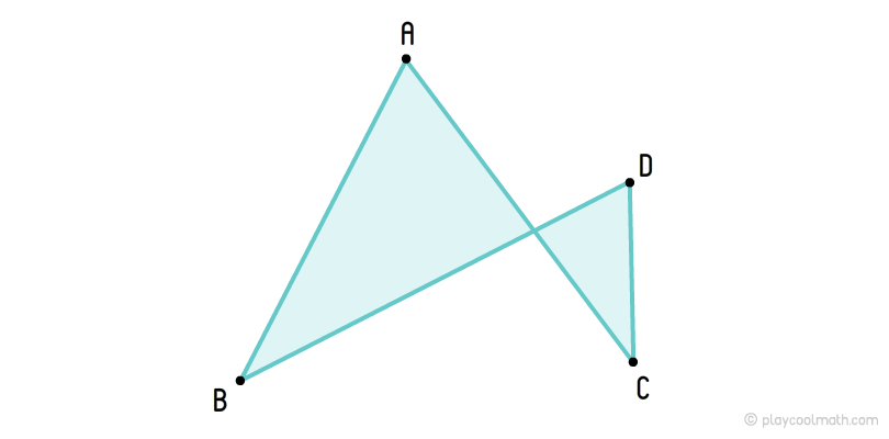 Self-intersecting quadrangles