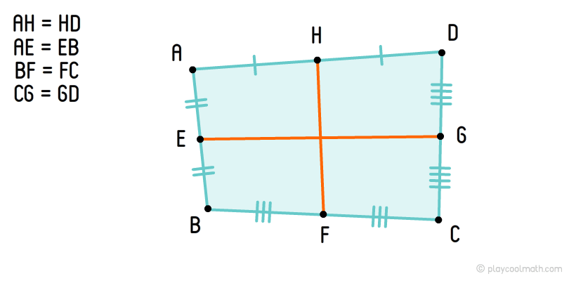 Quadrangle middle lines