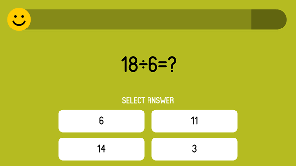 Test on the arithmetic operation division