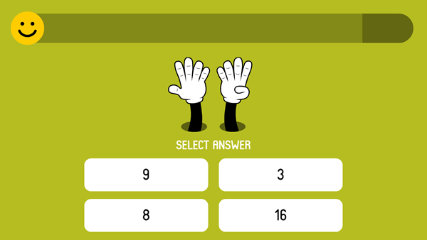 Test on the finger-counting